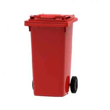 Mini container 120ltr rood