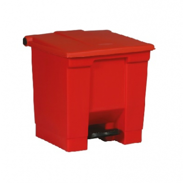 Step on container 30 ltr Rood
